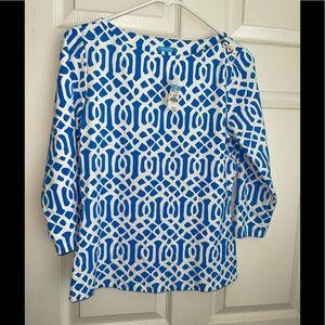 NWT J McLaughlin wavesong boatneck 3/4 sleeves top